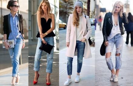 Boyfriend Jeans stylish kombinieren
